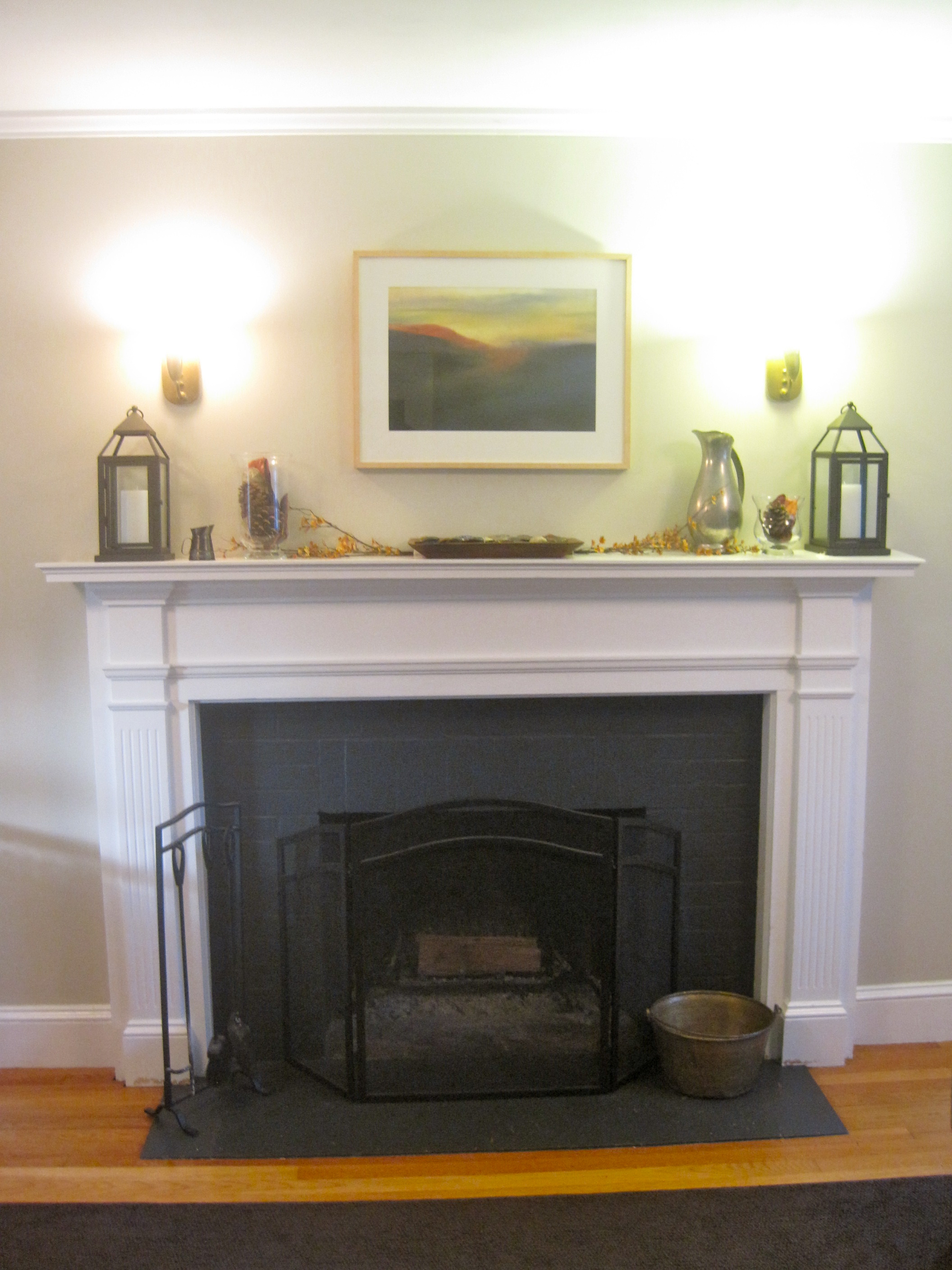 Mantel Decorating Ideas For Everyday 2015 ~ 185042_Fireplace Mantel Decorating Ideas For Everyday