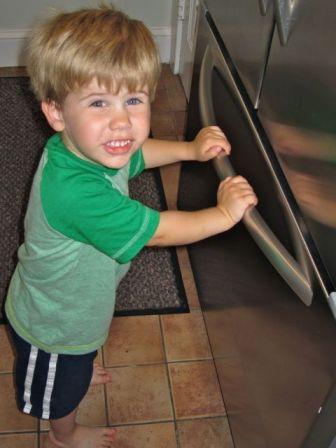 closing the freezer