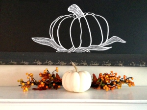 Fall Mantel - Pumpkin Art