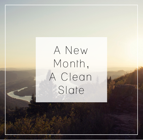 NewMonthCleanSlate
